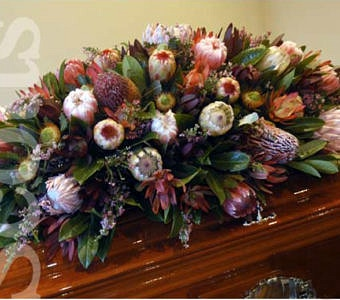 Wildflower casket cover